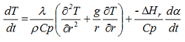 Heat transfer after considering cylindrical coordinates